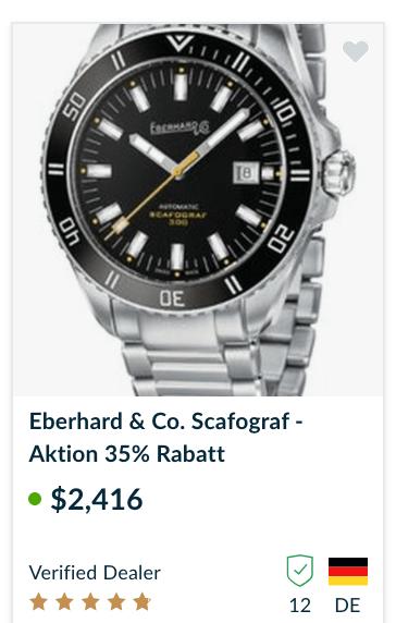Brand new Eberhard Scafograf for sale