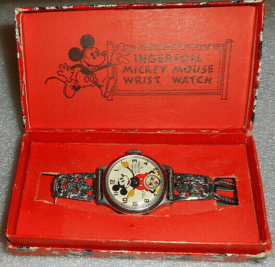 Collectible watches - 1933 Ingersol Mickey Mouse watch