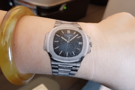 Patek tattoo - not the Patek Philippe 6711
