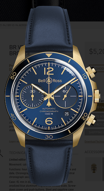 Bell & Ross BR V2-94 Aeronavale Bronze
