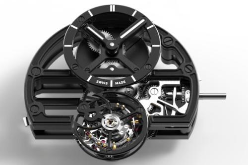 Bell & Ross BR-X1 Skeleton Tourbillon Sapphire Black movement