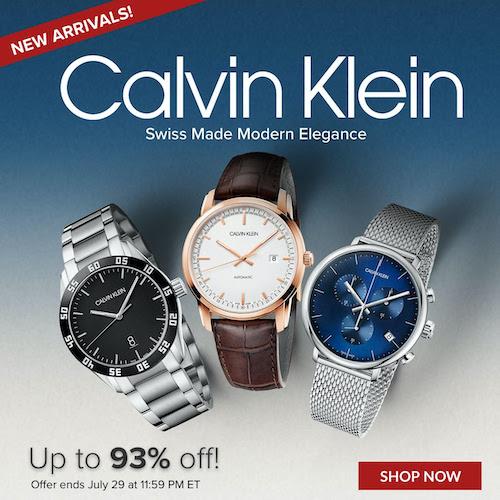 Calvin Klein designer watches on sale