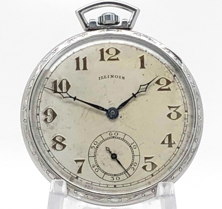 Illinois Art Deco pocket watch