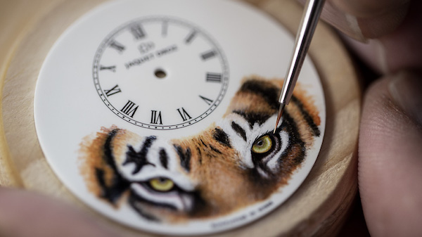 Jacob Droz tiger watch