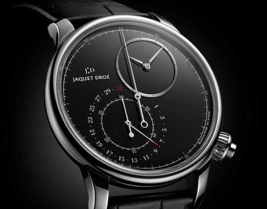 New watch alert! the Jacob Droz Grande Seconde Off-Centered Chronograph Onyx Dial