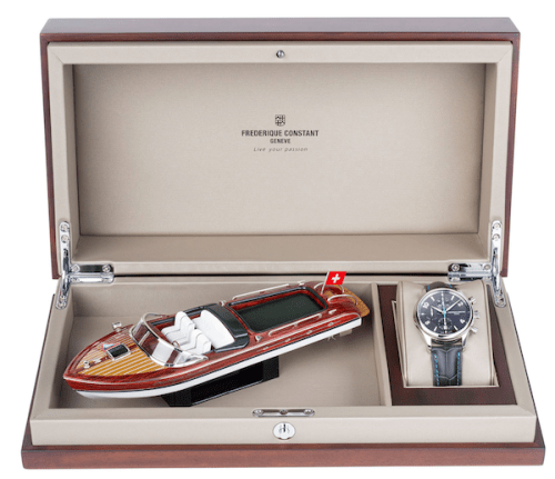 Riva boat with watch