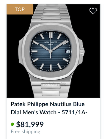 Grail watch - Patek Philippe Nautilus