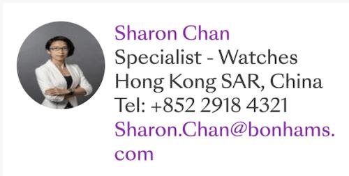 Sharon Chan - Bonhams Seiko specialist