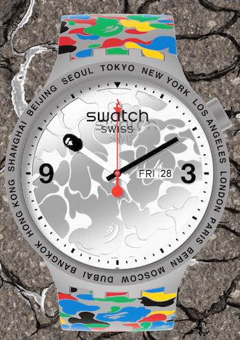 Swatch BAPE white dial