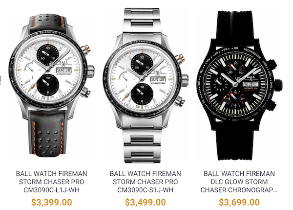 Discontinued Ball watches