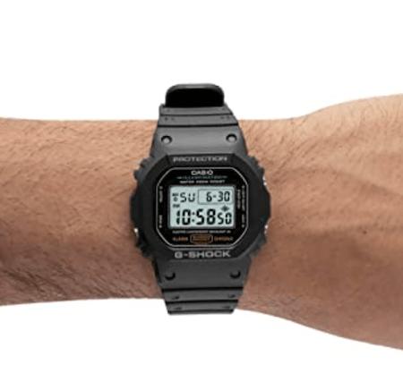 Casio DW5600E-1V on wrist Amazon Prime Day Watches