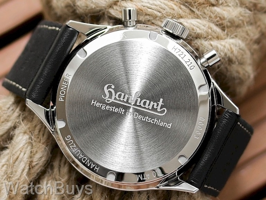 Hanhart Pioneer 417 ES Chronograph caseback