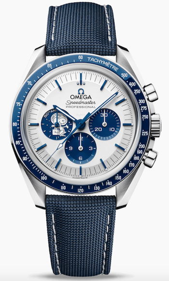OMEGA Speedmaster Moonwatch Silver Snoopy Award 50th Anniversary