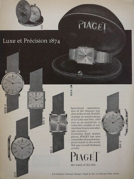 Piaget - thinnest watch ad