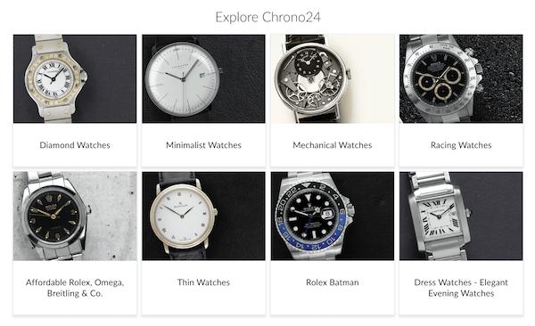 Pre-owned watch market chrono24.com
