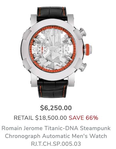 Romain Jerome famous Titanic watch
