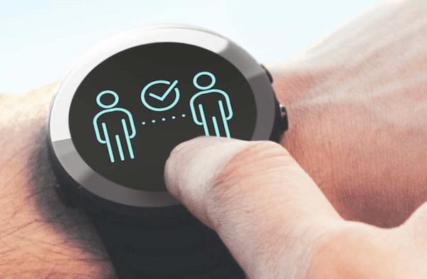 Social Distancing Wristwatch
