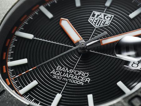 TAG Heuer x Bamford Aquaracer closeup