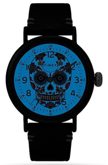 Timex Standard Dia de los Muertos sugar skull watch