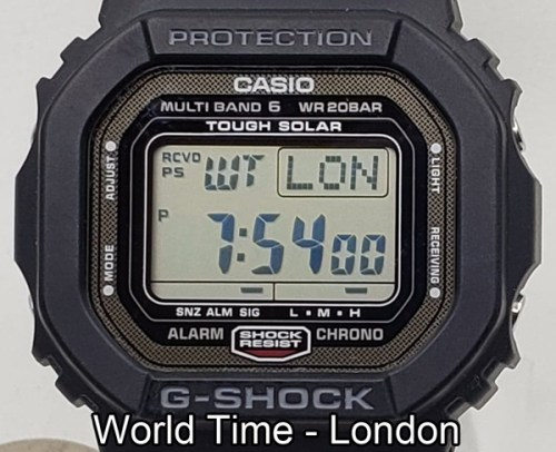 G-SHOCK functions - world time