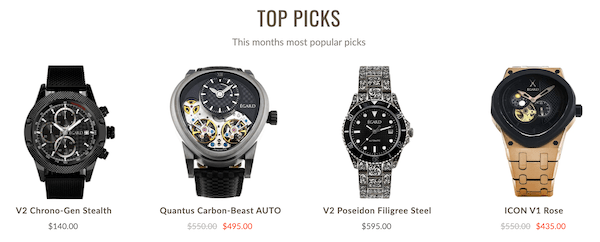 Égard watches top picks this month
