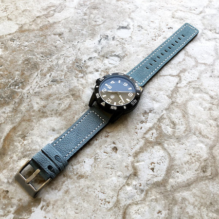 Gray watch strap