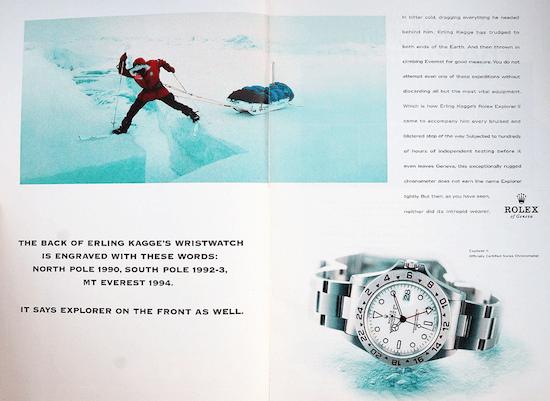 Rolex ice ad