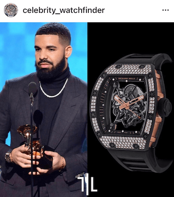 Celebrity watches - Drake