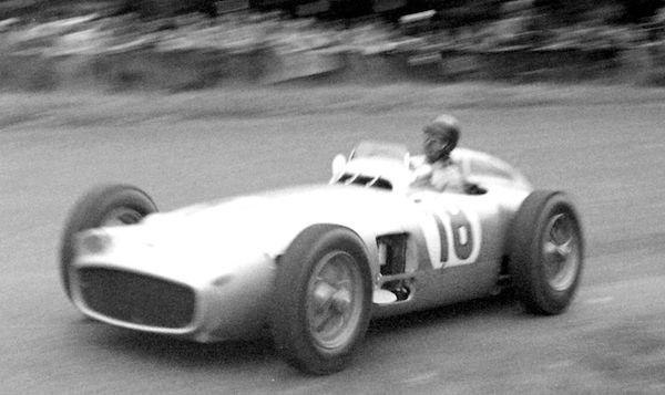 Fangio driving silver arrow