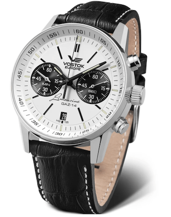 Vostok-Europe Gaz-Limousine Tritium Chrono - new watch alert