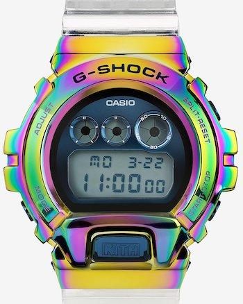 G-SHOCK KITH GM-6900 Rainbow head on