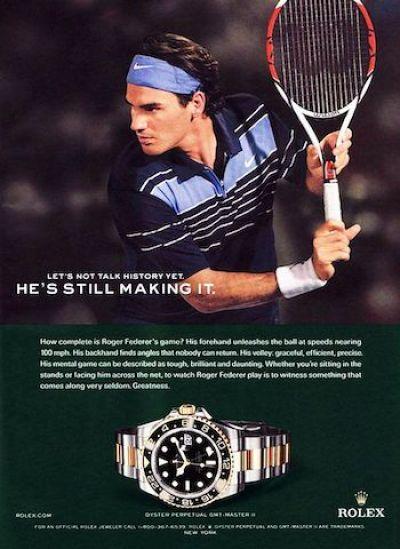 Rolex luxury watch sales branding