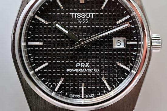 Tissot PRX Powermatic 80 dial