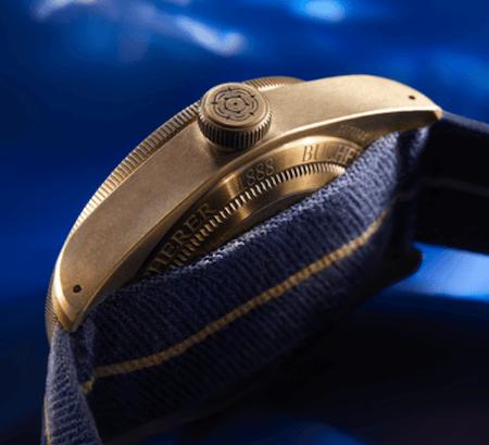 Tudor Black Bay Bronze Bucherer Blue caseback