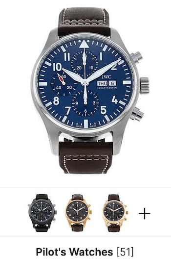 Used Watchfinder IWC's for sale vs. gray market watches