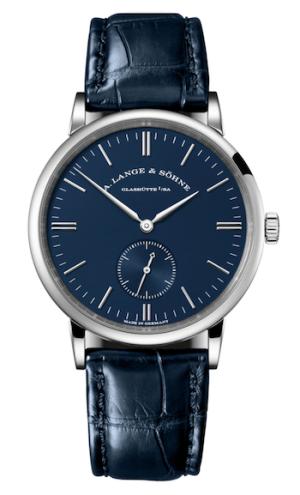 A. Lange & Söhne's white gold, blue dial Saxonia