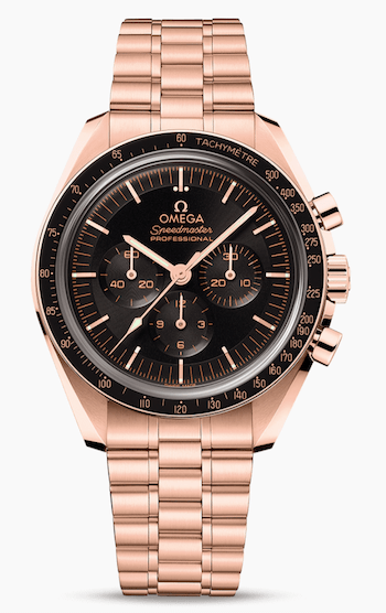 OMEGA Speedmaster Moonwatch Professional Sedna Gold watches