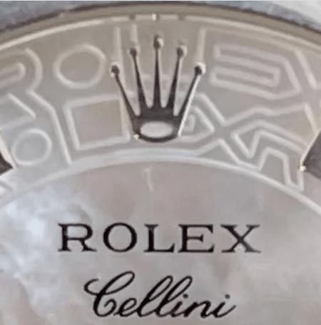 Rolex Cellini Cellinium closeup