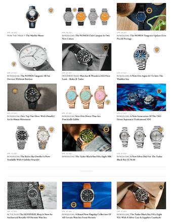 Swiss watch glut HoDinkee style