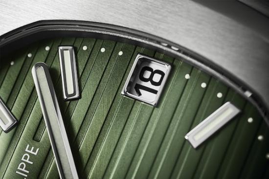 green dial Nautilus dial
