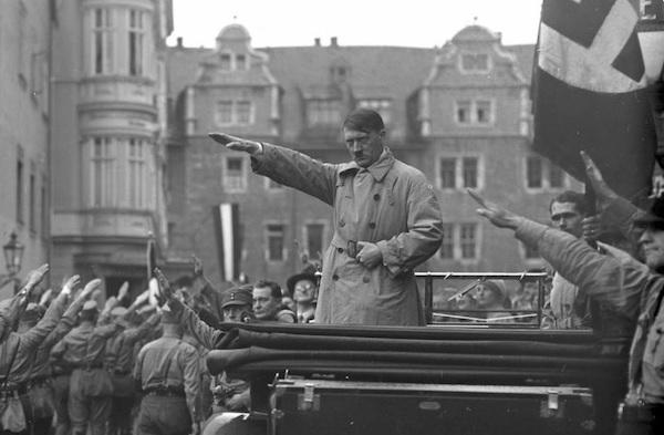 Weimar, Aufmarsch der Nationalsozialisten