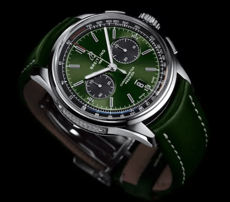 Green watch dial Breitling