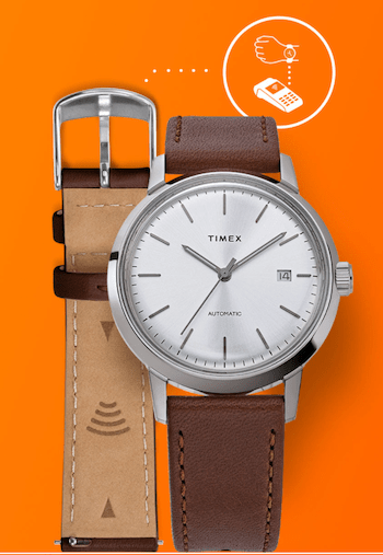 Timex contactless pay - email