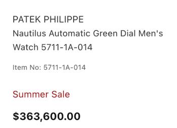 Green dial Nautilus price