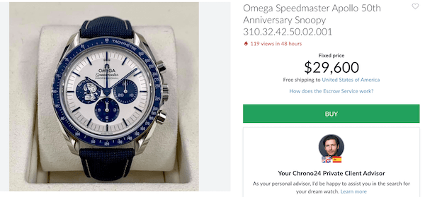 Limited Edition OMEGA Snoopy