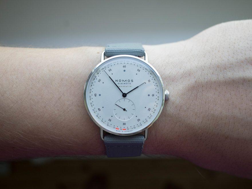 Wrist view of the Nomos Neomatik 41 Update