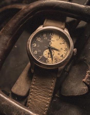 Timex x Shopworn American Documents handle