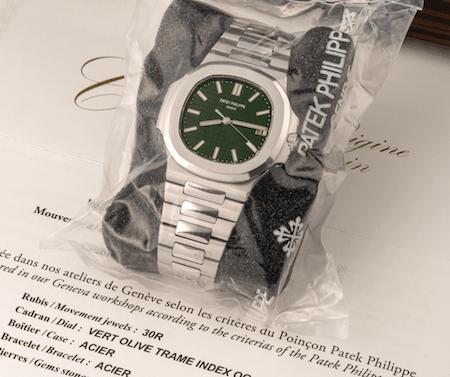 Green Dial Nautilus 5711 wrapped