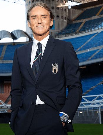 Roberto Mancini's Richard Mille in stadium
