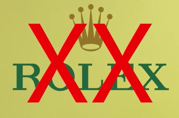 Don't buy a Rolex - logo